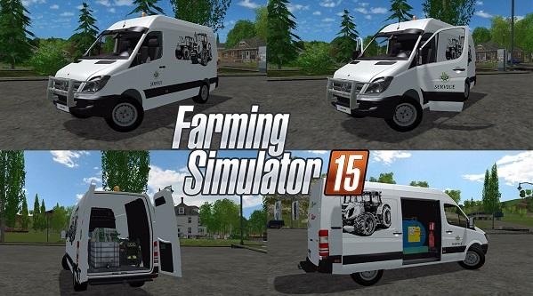 Mercedes Sprinter Service для Farming Simulator 2015