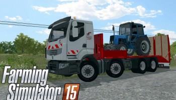 Renault Lander Plateau для Farming Simulator 2015