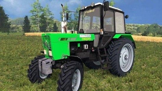 Green MTZ 82.1 FL для Farming Simulator 2015