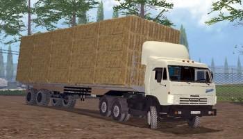 Прицеп для тюков + авто-подбор для Farming Simulator 2015