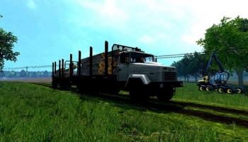 КрАЗ 6233 с прицепом для Farming Simulator 2015