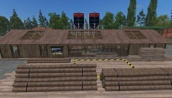 Пункт для продажи щепы для Farming Simulator 2015