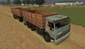 КамАЗ-45143 и прицеп для Farming Simulator 2015