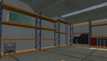 Помещение со стеллажами для Farming Simulator 2015