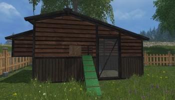 Перемещаемый курятник для Farming Simulator 2015
