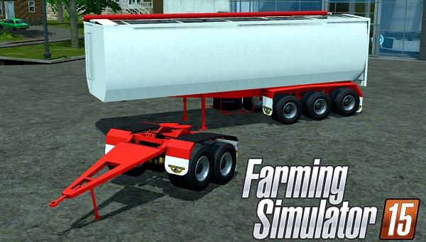 Road West Trailer TRI350 BT для Farming Simulator 2015