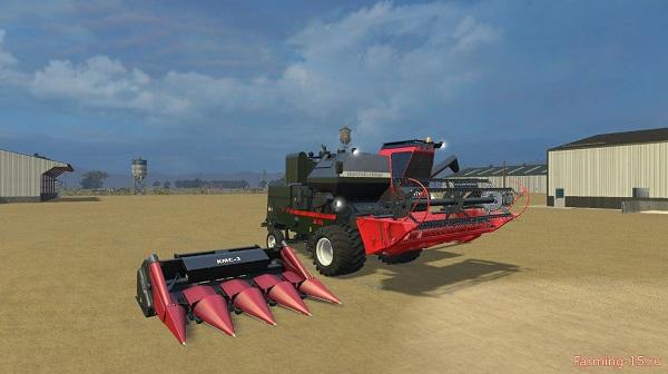 Комбайн Нива СК-5М-1 V1.1 + две жатки для Farming Simulator 2015