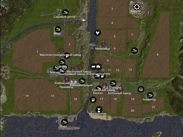 Мод карты Дары Кавказа для Farming Simulator 2015