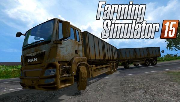 MAN зерновоз и прицеп для Farming Simulator 2015