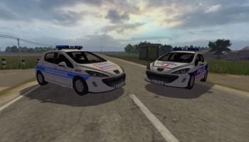 Peugeot 308 Police для Farming Simulator 2015