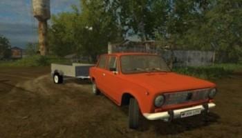 ВАЗ 2101 и Прицеп для Farming Simulator 2015