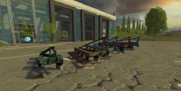 Пак плугов ПЛН для Farming Simulator 2015