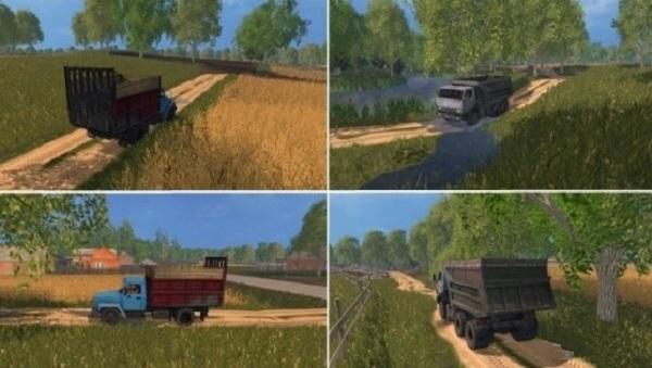 Карта Белые росы v1.6 для Farming Simulator 2015