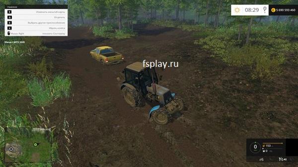 Грязь на карту для Farming Simulator 2015