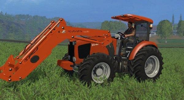 Kubota 9540 FL для Farming Simulator 2015