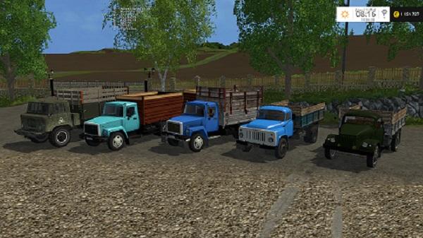 Пак ГАЗ-САЗ для Farming Simulator 2015