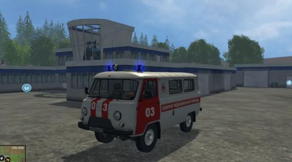 УАЗ 2206 Скорая v1.0 для Farming Simulator 2015