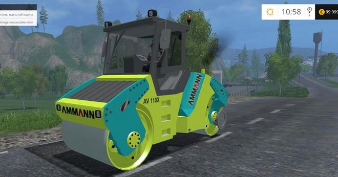 Compacteur Enrobe для Farming Simulator 2015
