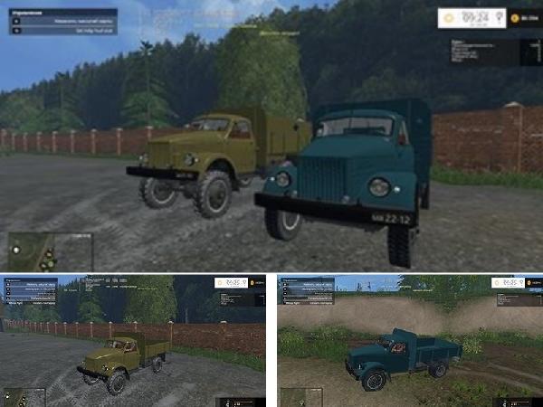 ГАЗ 51 и ГАЗ 63 [2.0] для Farming Simulator 2015