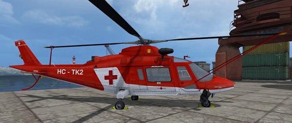 Agusta A109 Secours для Farming Simulator 2015