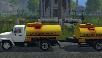 ГАЗ «бензовоз» для Farming Simulator 2015