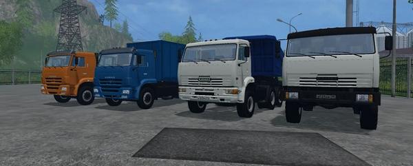 Грузовики Камаз для Farming Simulator 2015