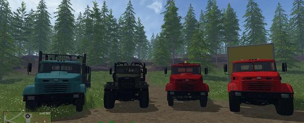 Грузовики КРАЗ для Farming Simulator 2015