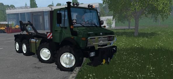 MB UNIMOG 2450 8X8 HKL для Farming Simulator 2015