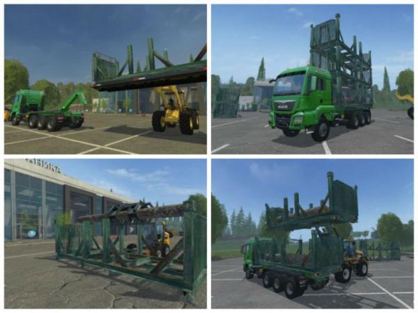 Мод модуль ITRunner Wood stack case v 1.0 для Farming Simulator 2015