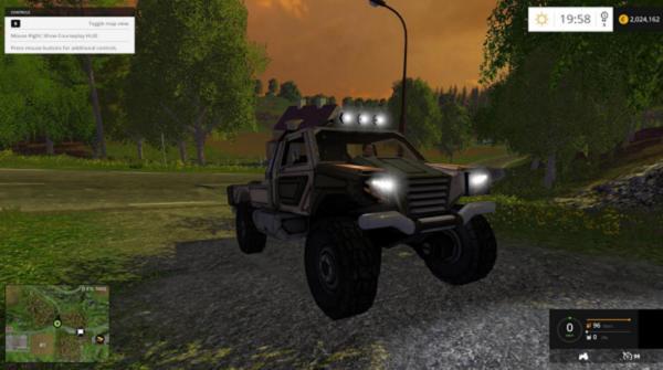 Мод авто Gekko Utility Vehilcle v 1.0 для Farming Simulator 2015