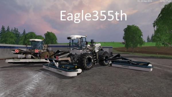 Мод косилка KRONE BIG M500 V2.6 для Farming Simulator 2015