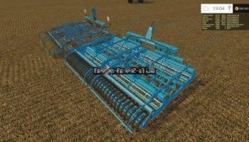 Мод культиваторы Lemken Kompaktor S-series v 2.0 для Farming Simulator 2015