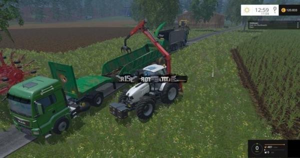 Мод щепогрыз Monster Chipser v 2.0 для Farming Simulator 2015