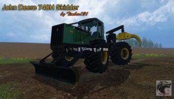 Мод трактор John Deere 748H v 1.1 Winch для Farming Simulator 2015