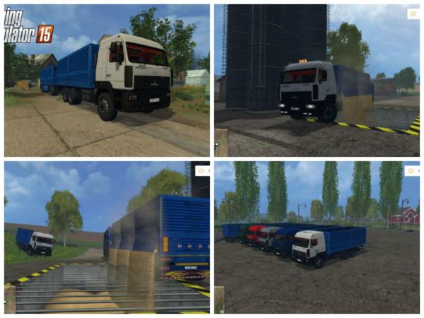Маз 6312а8 & Сзап 83053 для Farming Simulator 2015