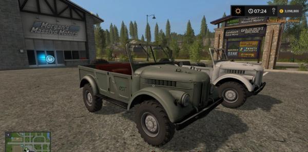 Мод авто ГАЗ 69 MOREREALITY V2.0 для Farming Simulator 2015