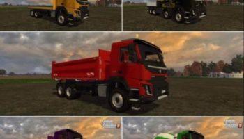 Мод ПАК грузовики Volvo FMX 500 v1.0 для Farming Simulator 2015