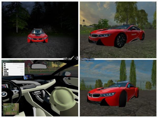 Мод авто BMW I8 KdoW v 1.0 для Farming Simulator 2015
