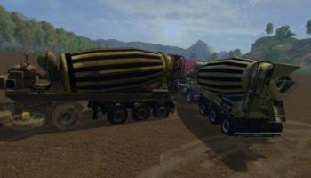 Мод бетономешалка Liebherr для Farming Simulator 2015