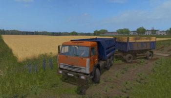 Мод грузовик КАМАЗ-55111 СОВОК V1.0 для Farming Simulator 2015