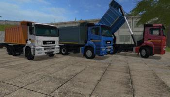 Мод грузовик КАМАЗ-6520-21010-43 V2.1.1 для Farming Simulator 2015