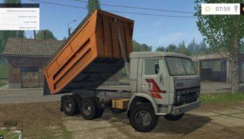 Мод грузовик КамАЗ 55111 для Farming Simulator 2015