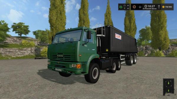 Мод грузовик Камаз 65115 1.0 для Farming Simulator 2015