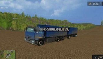Мод грузовик Камаз 65221 и прицеп v 2.0 для Farming Simulator 2015