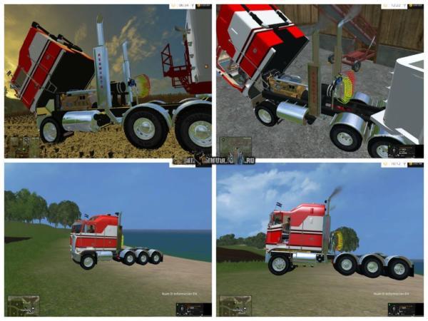Мод грузовик Kenworth K100 CabOver v 2.1 для Farming Simulator 2015