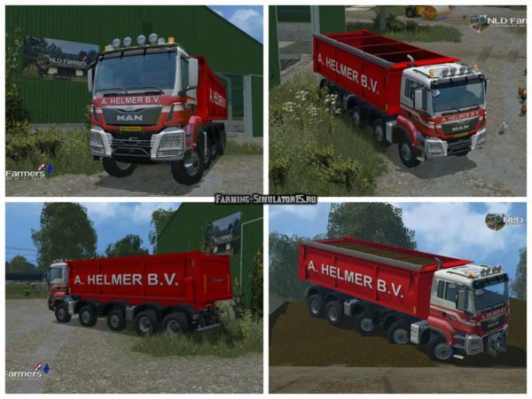Мод грузовик MAN A Helmer B.V. v 1.1 для Farming Simulator 2015