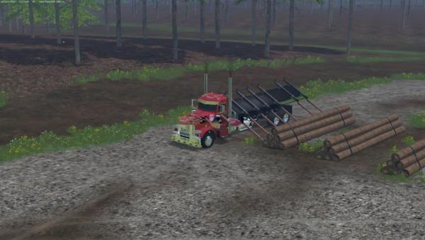 Мод грузовик Peterbilt 388 Log Truck v1.0 для Farming Simulator 2015