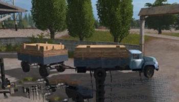 Мод грузовик ЗИЛ 130 БОРТОВОЙ V1.1 для Farming Simulator 2015
