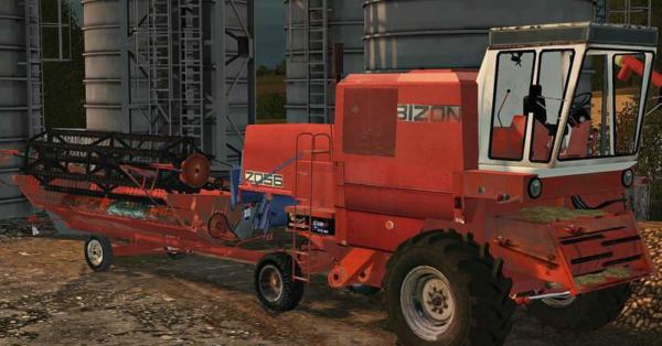 Мод комбайн BIZON Z056 FORTSCHRITT для Farming Simulator 2015