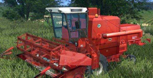 Мод комбайн Bizon ZO56 Red With Cabine v 2.0 для Farming Simulator 2015